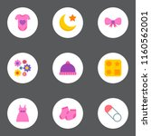 set of child icons flat style... | Shutterstock .eps vector #1160562001