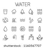 water related vector icon set.... | Shutterstock .eps vector #1160567707