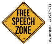 free speech zone vintage rusty... | Shutterstock .eps vector #1160574751