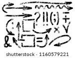 set of hand drawn symbols.... | Shutterstock .eps vector #1160579221