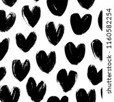 seamless pattern with hearts.... | Shutterstock .eps vector #1160582254