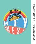 key west florida vintage icon... | Shutterstock .eps vector #1160583961