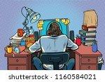 man with headphones in the... | Shutterstock .eps vector #1160584021