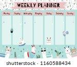 pastel weekly calendar planner... | Shutterstock .eps vector #1160588434
