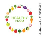 healthy food concept. diet and... | Shutterstock .eps vector #1160600671