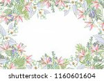 bush of yellow spring flowers.... | Shutterstock . vector #1160601604