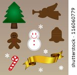 embroidery christmas object | Shutterstock .eps vector #116060779