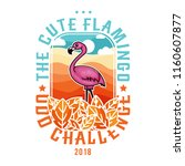 the cute flamingo odd challenge | Shutterstock .eps vector #1160607877