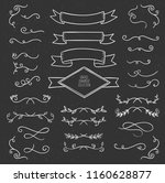 collection of vector hand drawn ... | Shutterstock .eps vector #1160628877