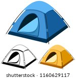 vector illustration of a tent... | Shutterstock .eps vector #1160629117