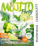 refreshing mojito party poster... | Shutterstock .eps vector #1160631577