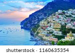 view of positano village along... | Shutterstock . vector #1160635354