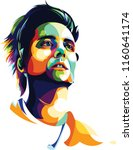 music man pop art portrait... | Shutterstock .eps vector #1160641174