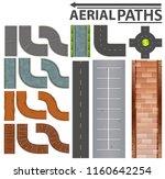 Set Of Aerial Paths Illustration