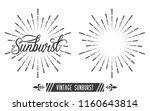 vintage sunburst design vector... | Shutterstock .eps vector #1160643814