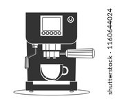 coffee maker machine icon flat. ... | Shutterstock .eps vector #1160644024