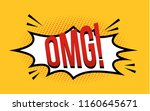 comic speech bubble with... | Shutterstock .eps vector #1160645671