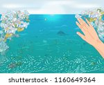 environmental disaster of... | Shutterstock .eps vector #1160649364
