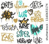 graffiti vector street art... | Shutterstock .eps vector #1160653174