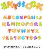 alphabet abc vector balloon... | Shutterstock .eps vector #1160653177