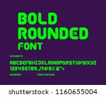 bold rounded font set | Shutterstock .eps vector #1160655004