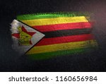 zimbabwe flag made of metallic... | Shutterstock . vector #1160656984
