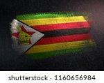 zimbabwe flag made of metallic... | Shutterstock . vector #1160656984
