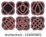 set of vector ancient celtic... | Shutterstock .eps vector #116065801