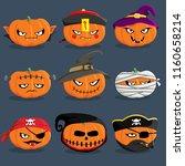 set of illustration halloween... | Shutterstock . vector #1160658214
