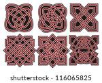 set of vector ancient celtic... | Shutterstock .eps vector #116065825