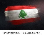 lebanon flag made of metallic... | Shutterstock . vector #1160658754