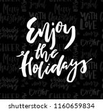 merry christmas card with...   Shutterstock .eps vector #1160659834