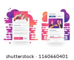 web page design templates... | Shutterstock .eps vector #1160660401
