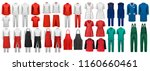 mega set of overalls with... | Shutterstock .eps vector #1160660461