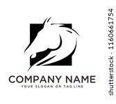 Stock vector creative logo design horse 1160661754