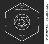 symbol of handshake in circle.... | Shutterstock .eps vector #1160662687