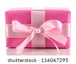 colorful pink gift with bow... | Shutterstock . vector #116067295
