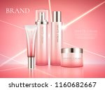 white cream product set in pink ... | Shutterstock .eps vector #1160682667