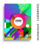 abstract geometric pattern... | Shutterstock .eps vector #1160684431
