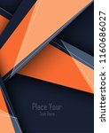 vector modern cover template | Shutterstock .eps vector #1160686027