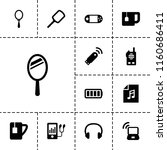 portable icon. collection of 13 ... | Shutterstock .eps vector #1160686411