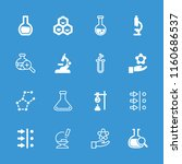 scientific icon. collection of... | Shutterstock .eps vector #1160686537