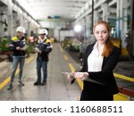 young engineer girl in a modern ... | Shutterstock . vector #1160688511