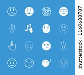 expression icon. collection of... | Shutterstock .eps vector #1160688787