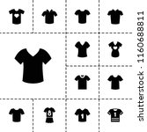 tshirt icon. collection of 13... | Shutterstock .eps vector #1160688811