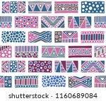 seamless pattern. geometrical... | Shutterstock . vector #1160689084