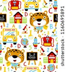 seamless pattern vector with... | Shutterstock .eps vector #1160695891