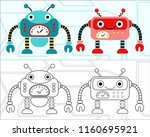 vector illustration of funny... | Shutterstock .eps vector #1160695921