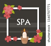 spa  vector illustration with... | Shutterstock .eps vector #1160707771