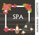 spa  vector illustration with... | Shutterstock .eps vector #1160707774